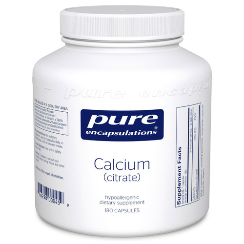 Calcium citrate by Pure Encapsulations 180 capsules