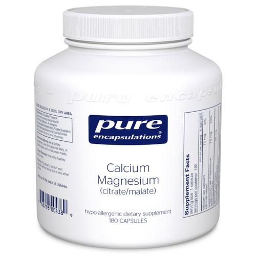 Calcium Magnesium citrate/malate by Pure Encapsulations 180 capsules
