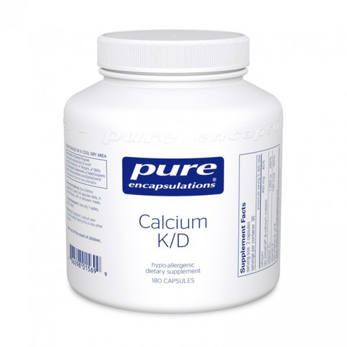 Calcium K/D by Pure Encapsulations 180 capsules