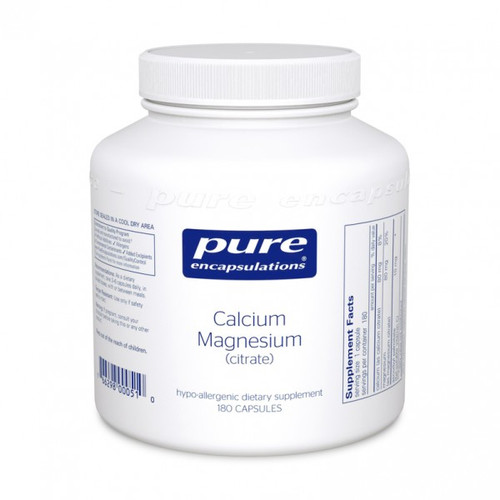 Calcium Magnesium citrate by Pure Encapsulations 180 capsules