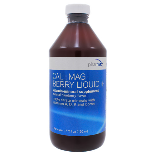 Cal: Mag Berry Liquid + by Pharmax 15.2 oz (450ml)