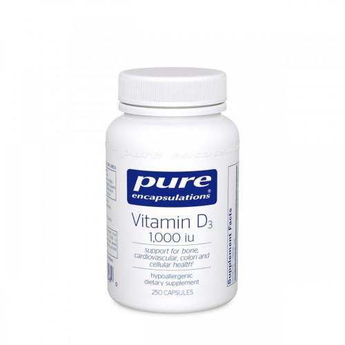 Vitamin D3 1000 IU by Pure Encapsulations 120 capsules