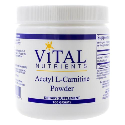 Acetyl L-Carnitine Powder by Vital Nutrients 100 grams