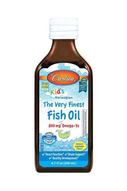 Carlson Kid's Norwegian Very Finest Fish Oil Lemon 6.7oz (200ml)