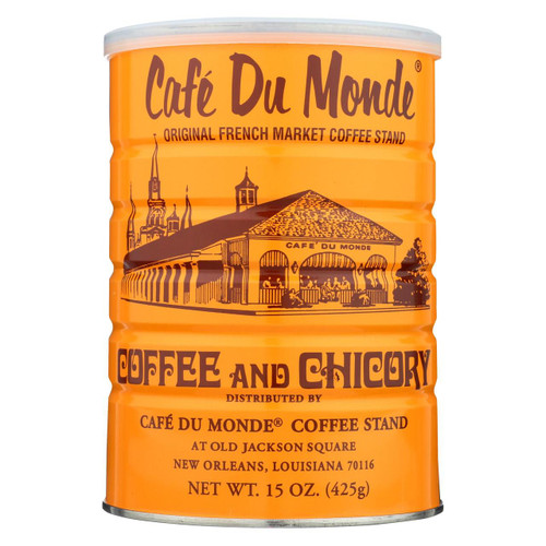 Cafe Du Monde Coffee - Regular - Case Of 12 - 15 Oz