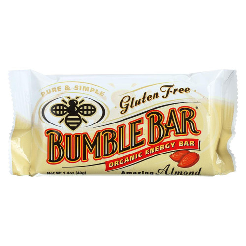Bumble Bar Organic Sesame Bar - Amazing Almond - Case Of 12 - 1.4 Oz.