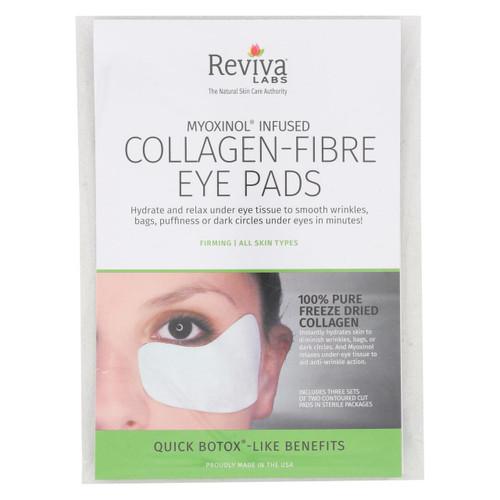 Reviva Labs Collagen Fiber Contoured Eye Pads - Case Of 6 - 3 Sets