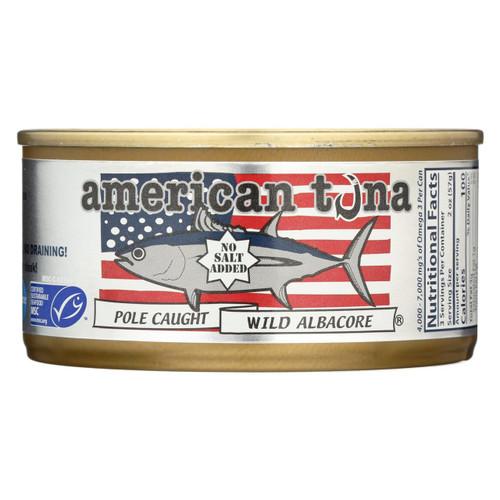 American Tuna  No Salt - Case Of 24 - 6 Oz
