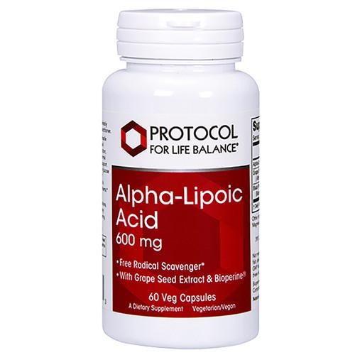 Alpha Lipoic Acid 600mg by Protocol For Life Balance 60 capsules
