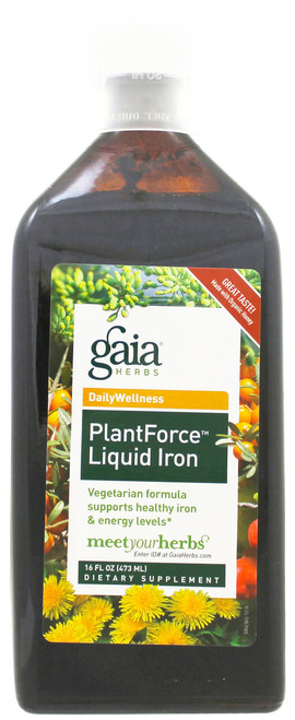 PlantForce Liquid Iron by Gaia Herbs 16oz