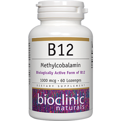 B12 Methylcobalamin 1000mcg by Bioclinic Naturals 60 lozenges