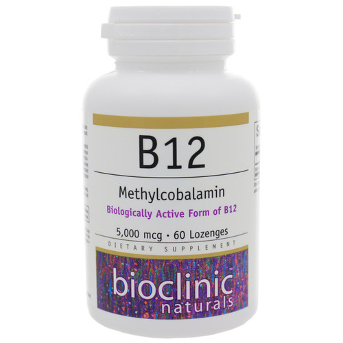 B12 Methylcobalamin 5000mcg by Bioclinic Naturals 60 lozenges