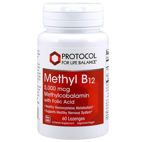 Methyl B-12 5000mcg by Protocol For Life Balance 60 lozenges