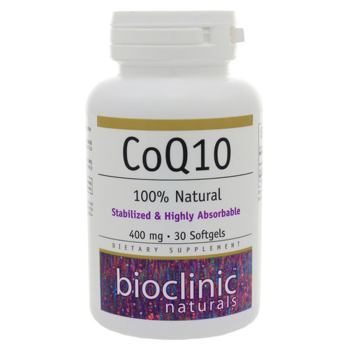 CoQ10 400mg by Bioclinic Naturals 30 softgels