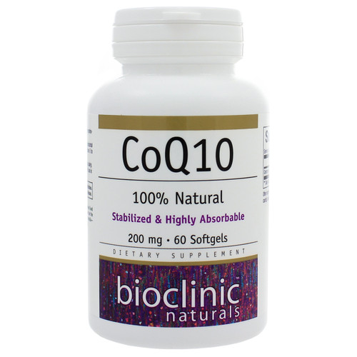 CoQ10 200mg by Bioclinic Naturals 60 softgels