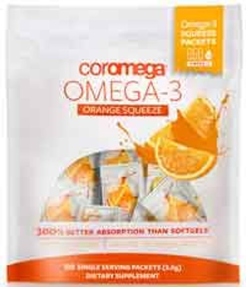 Omega-3 Squeeze Orange by Coromega 120 packets