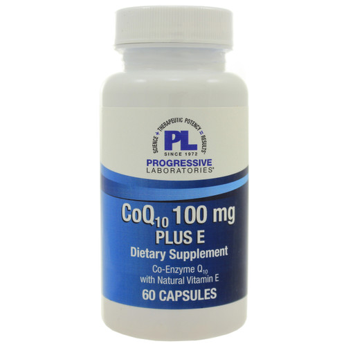 CoQ10 100mg Plus E by Progressive Labs. 60 capsules