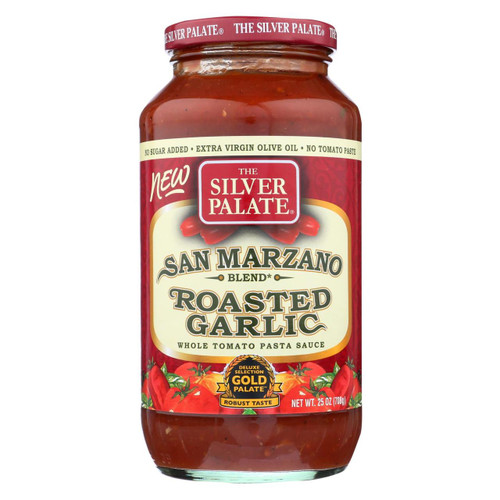 Silver Palate Pasta Sauce - Roasted Garlic - Case Of 6 - 25 Oz.