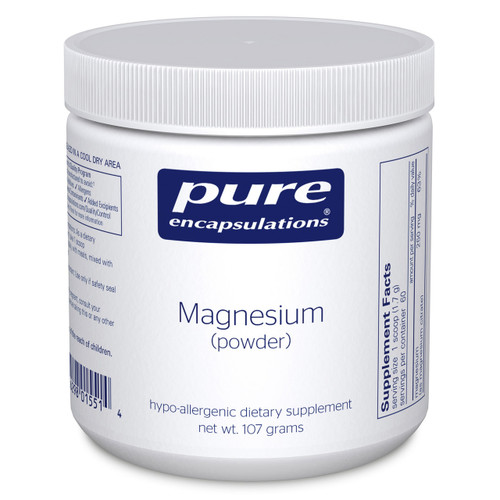 Magnesium powder by Pure Encapsulations 107 grams
