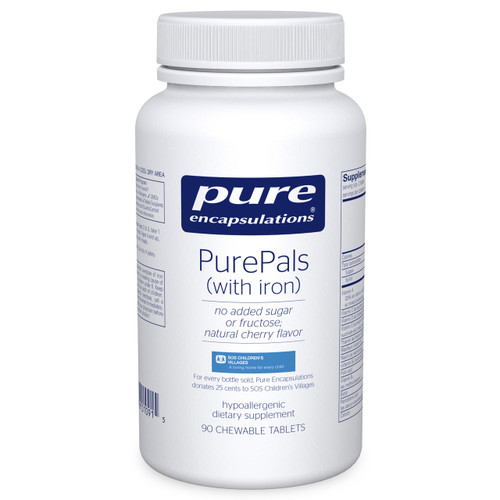 PurePals with iron by Pure Encapsulations 90 chewable tablets