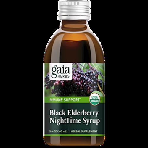 Black Elderberry NightTime Syrup by Gaia Herbs 5.4oz