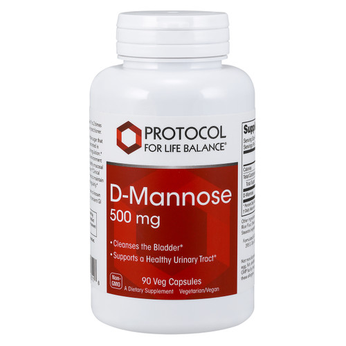 D-Mannose 500mg by Protocol for Life Balance 90 capsules