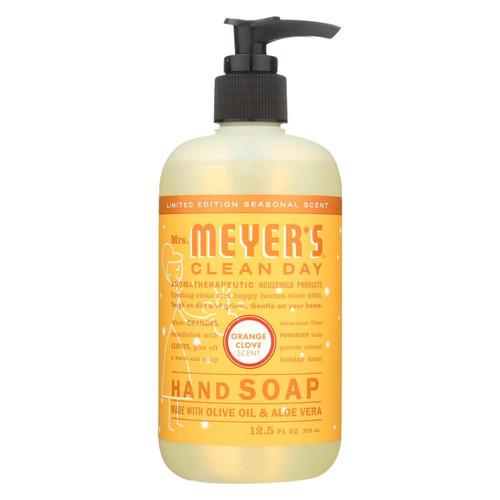 Mrs. Meyer's Clean Day - Liquid Hand Soap - Orange Clove - Case Of 6 - 12.5 Fl Oz.