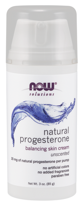 Natural Progesterone Balancing Skin Cream Unscented by NOW 3oz