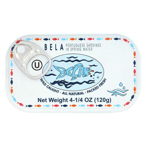 Bela - Olhao Sardines Spring Water - Case Of 12 - 4.25 Oz.