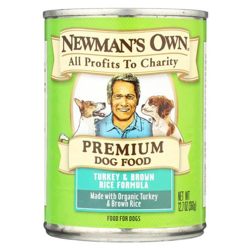Newman's Own Organics Premium Turkey And Brown Rice - Case Of 12 - 12.7 Oz.