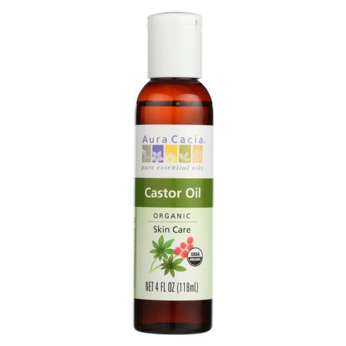 Aura Cacia Skin Care Oil - Organic Castor Oil - 4 Fl Oz