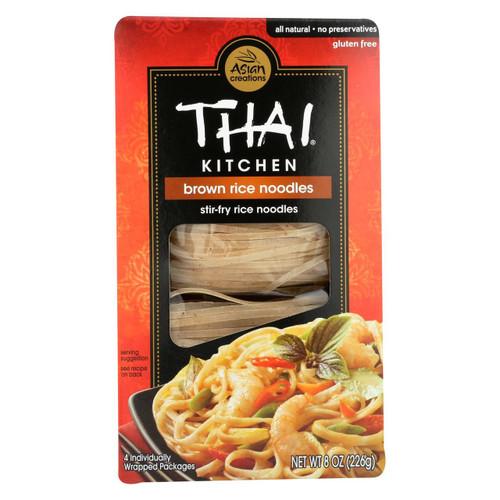 Thai Kitchen Brown Rice Noodles - Case Of 6 - 8 Oz.