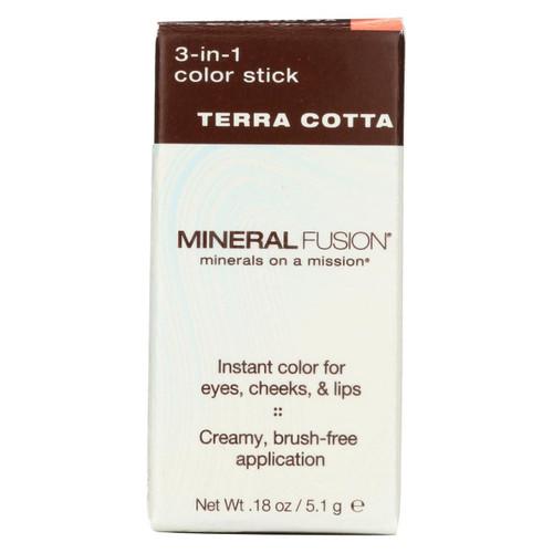 Mineral Fusion - 3-in-1 Color Stick - Terra Cotta - 0.18 Oz.