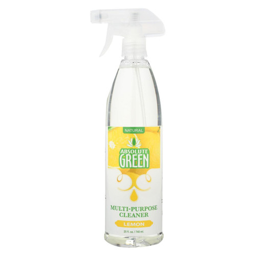 Absolute Green - All-purpose Cleaner - Lemon - Case Of 6 - 25 Fl Oz.