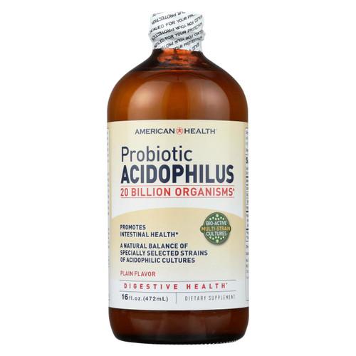 American Health Probiotic Acidophilus Plain - 16 Fl Oz