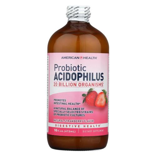 American Health Acidophilus Natural Strawberry - 16 Fl Oz