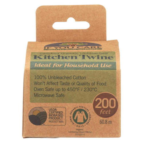 If You Care Natural Cooking Twine - 200 Ft