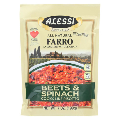 Alessi - Farro Beets And Spinach - Case Of 6 - 7 Oz