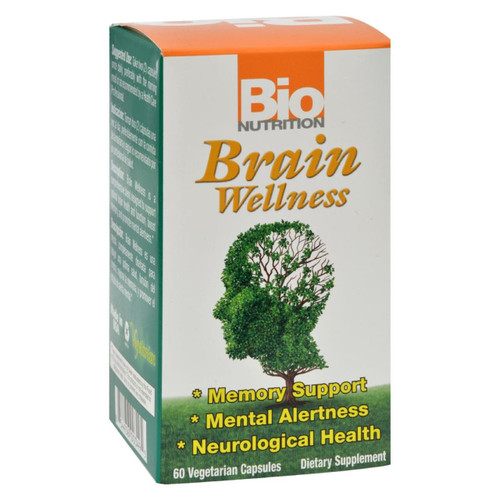 Bio Nutrition - Brain Wellness - 60 Vegetarian Capsules