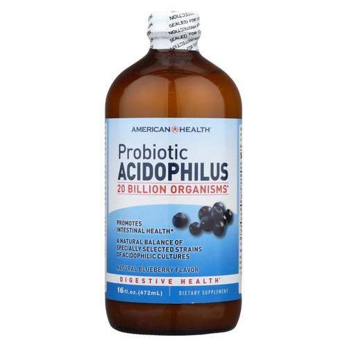 American Health Probiotic Acidophilus Blueberry - 15 Fl Oz