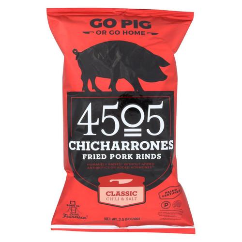 4505 - Pork Rinds - Chicharones - Chili - Salt - Case Of 12 - 2.5 Oz