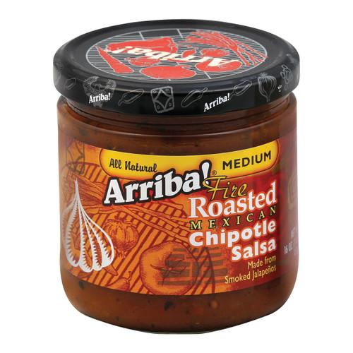 Arriba Fire Roasted Chipotle Salsa - Medium - Case Of 6 - 16 Oz.