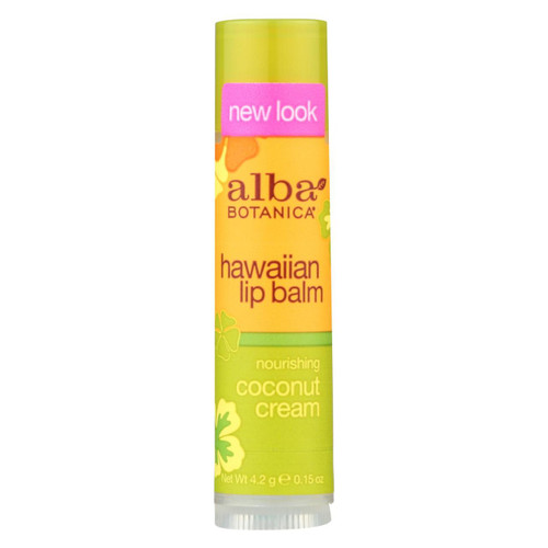 Alba Botanica Lip Balm - Coconut Cream - Case Of 24 - .15 Oz