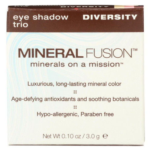 Mineral Fusion - Eye Shadow Trio - Diversity - 0.1 Oz.
