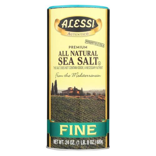 Alessi - Mediterranean Sea Salt - Fine - Case Of 6 - 24 Oz.