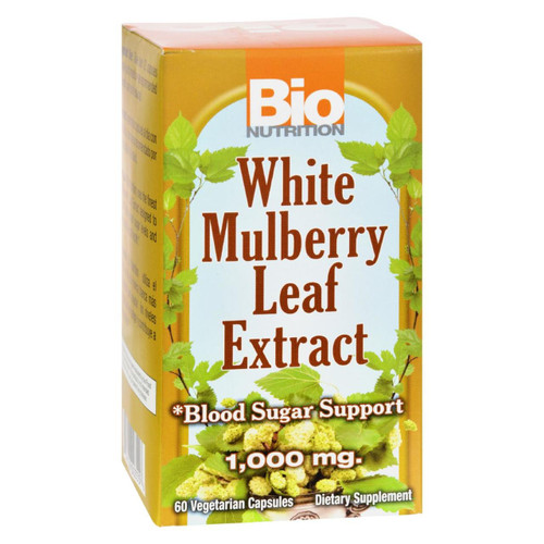 Bio Nutrition - Inc White Mulberry Leaf Extract - 1000 Mg - 60 Veg Capsules