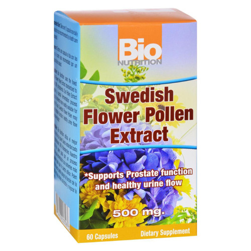 Bio Nutrition - Inc Swedish Flower Pollen Extract - 500 Mg - 60 Veg Capsules