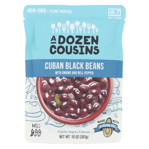 A Dozen Cousins - Ready To Eat Beans - Cuban Black - Case Of 6 - 10 Oz.