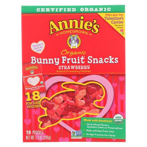 Annie's Homegrown Fruit Snack Valentine's Day - Case Of 12 - 7.3 Oz