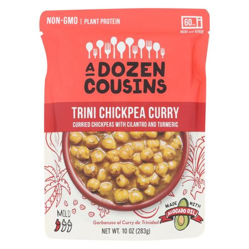 A Dozen Cousins - Ready To Eat Beans - Trini Chickpea Curry - Case Of 6 - 10 Oz.